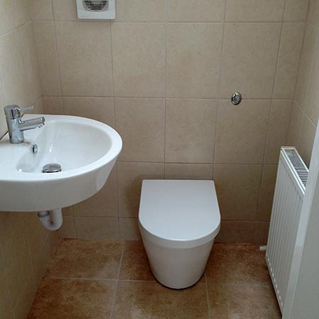 Fitted downstairs bathroom
