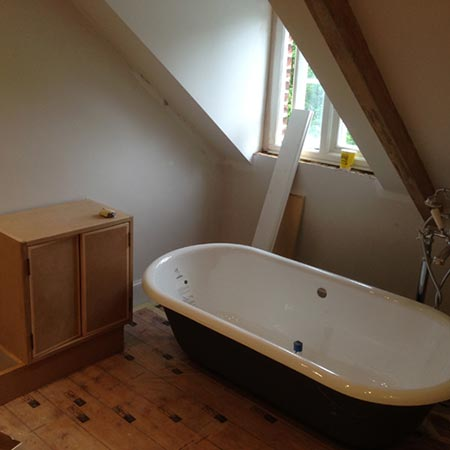 Roll top bath fitting Oxfordshire