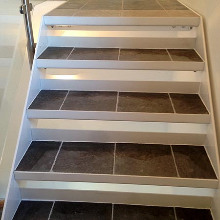 Stair tiling in Oxfordshire